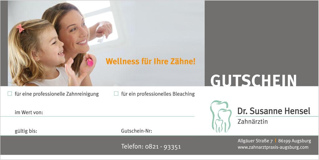 Gutschein für eine professionelle Zahnreinigung (PZR)